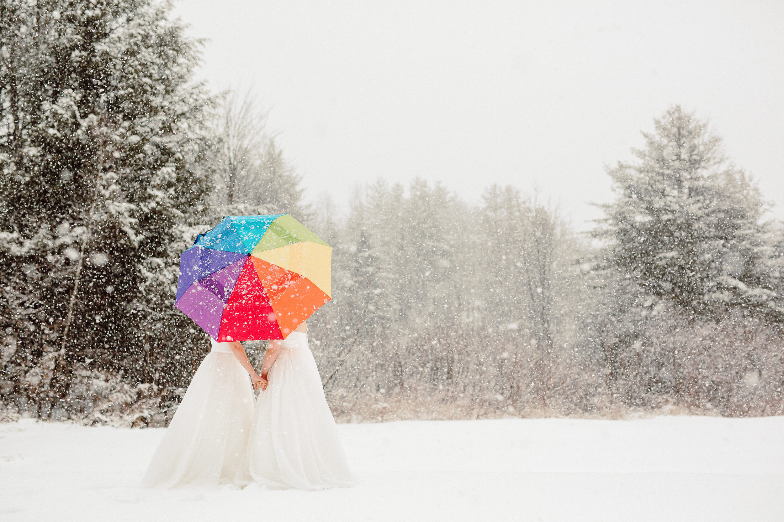 Snowy Winter Elopement Vermont