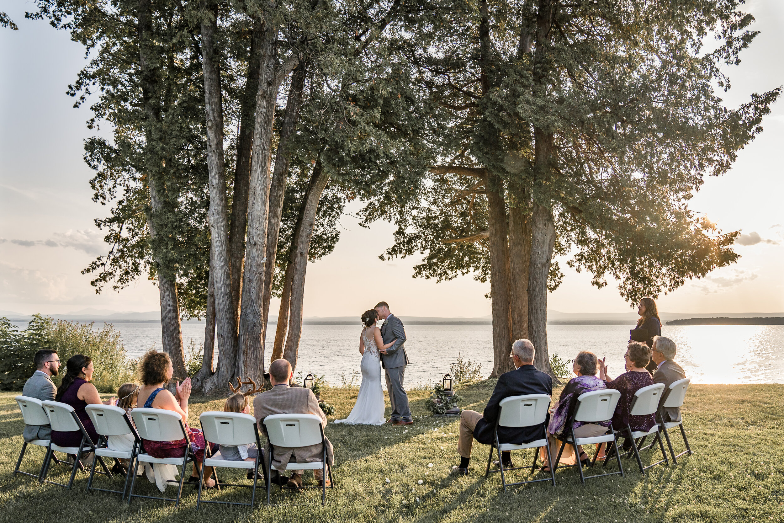 Summer Lakeside Elopement Photography Vermont