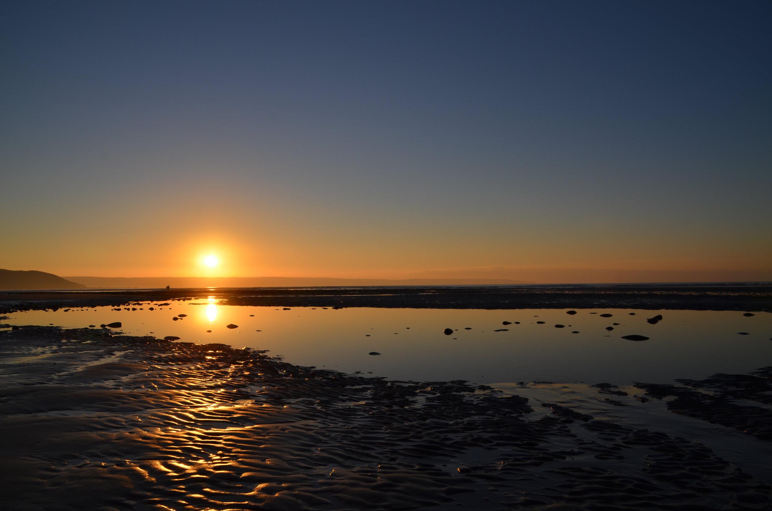 Stunning sunset over Westward Ho! Beach