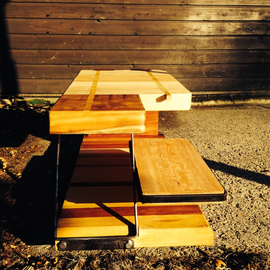 Mixed Wood Joinery Side Table