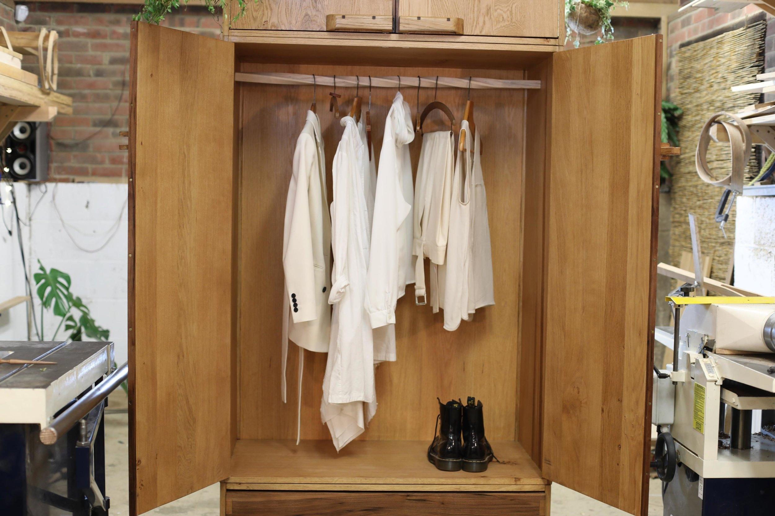 Bespoke oak wardrobe