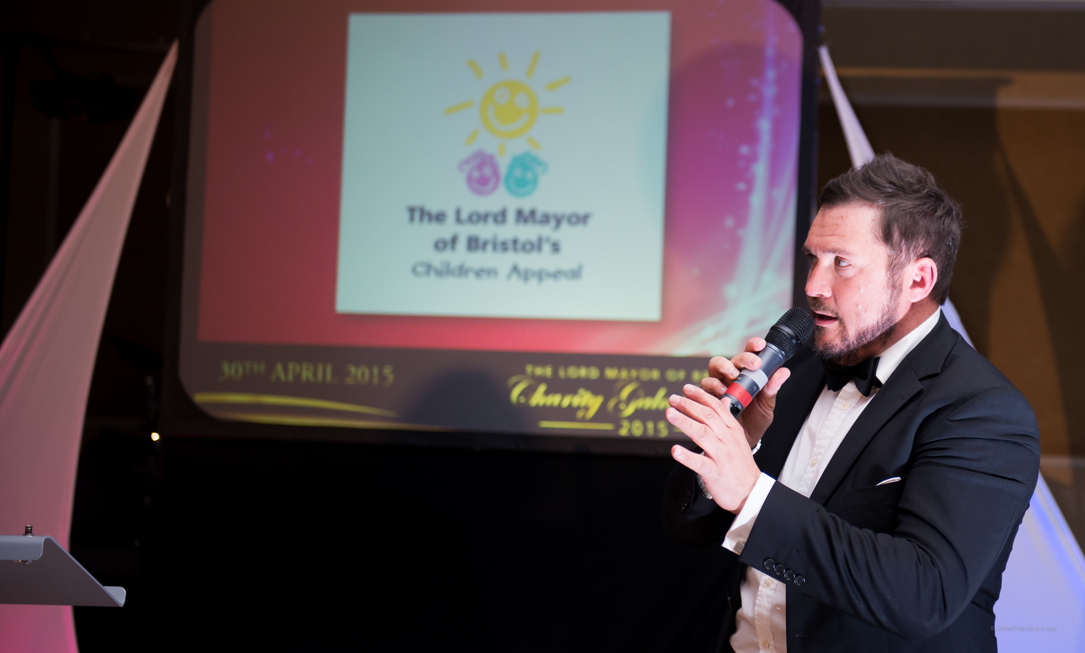 Auctioneer and compere for The Lord Mayor's Children Appeal at The Royal Marriott in April 2015