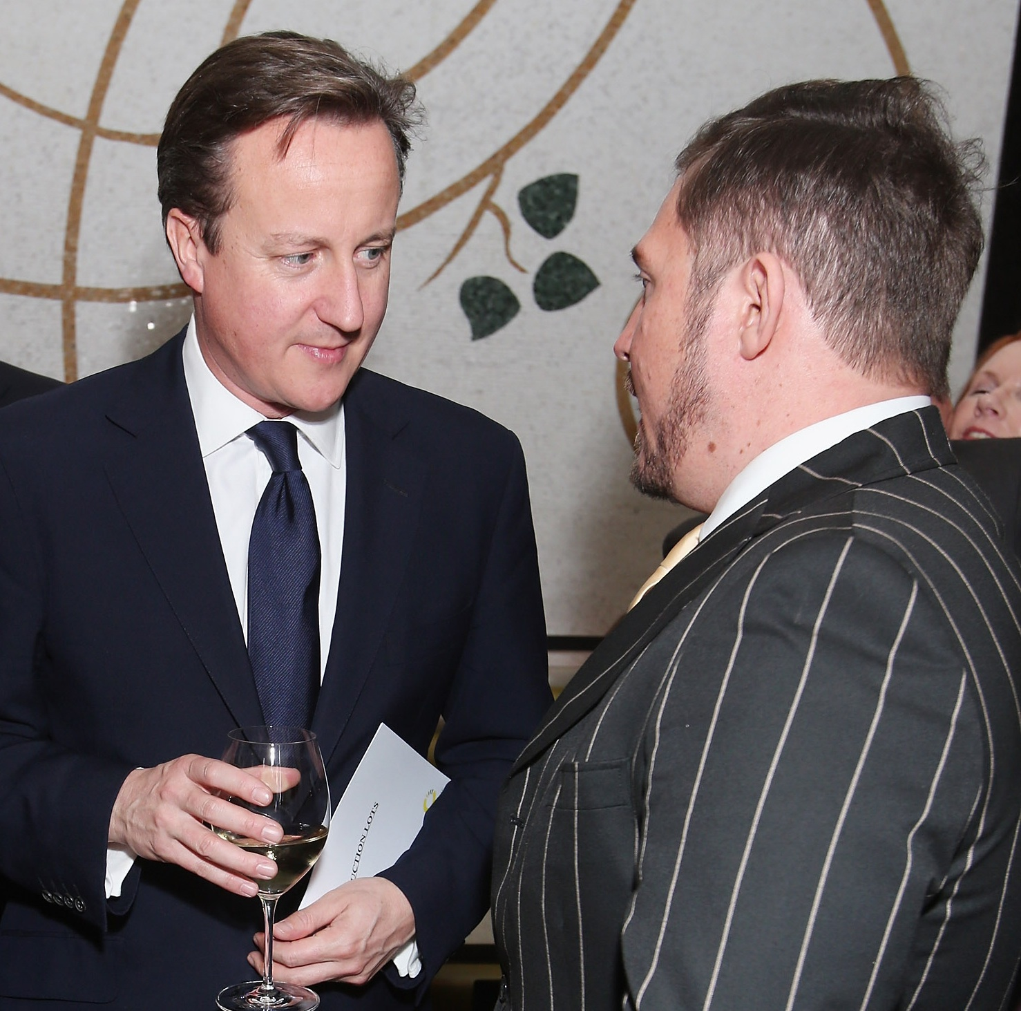 - With the British Prime Minister prior to charity Auction for Give Us Time in Whitehall