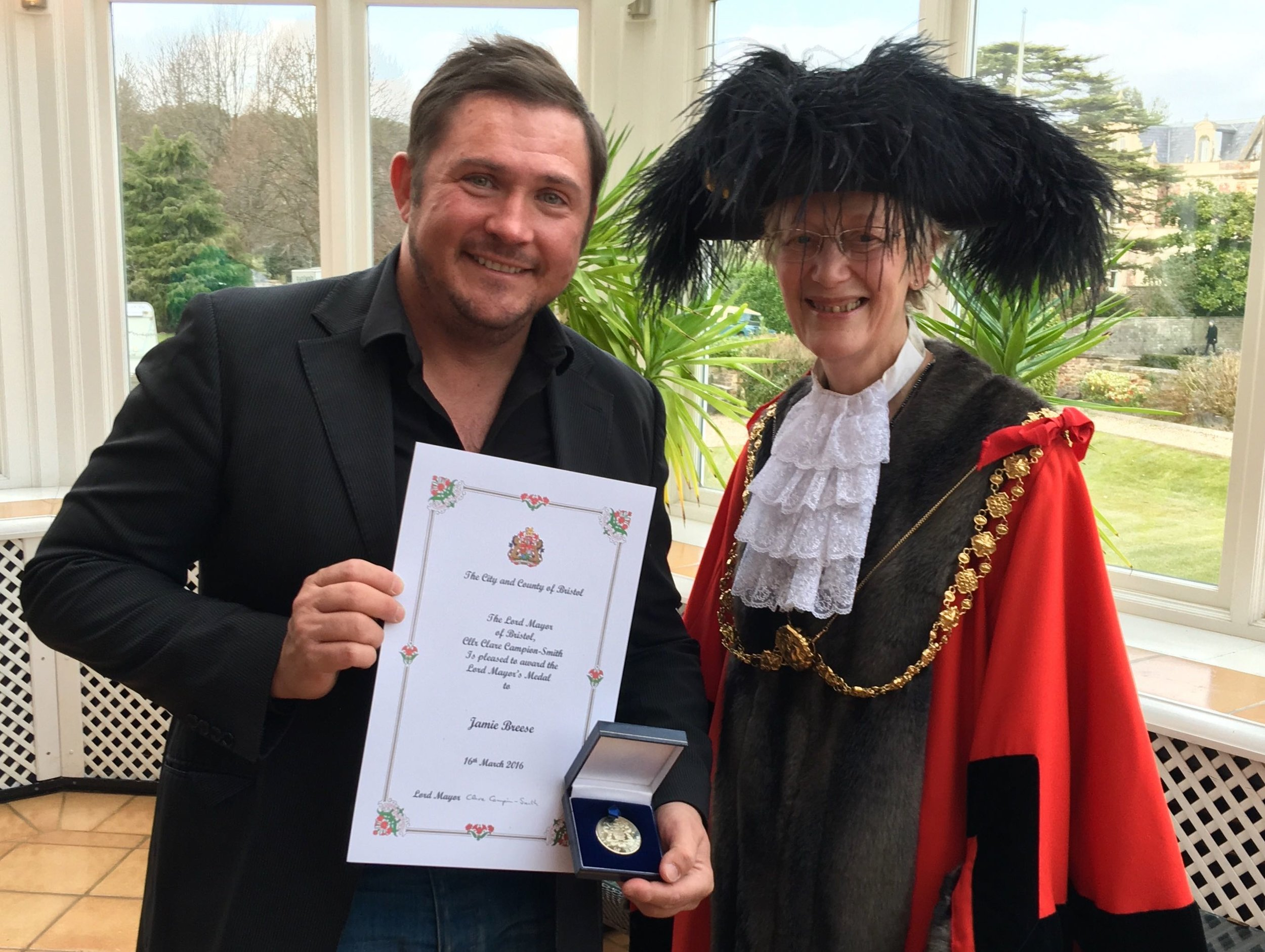 - Receiving the prestigious Lord Mayor's Medal in March 2016