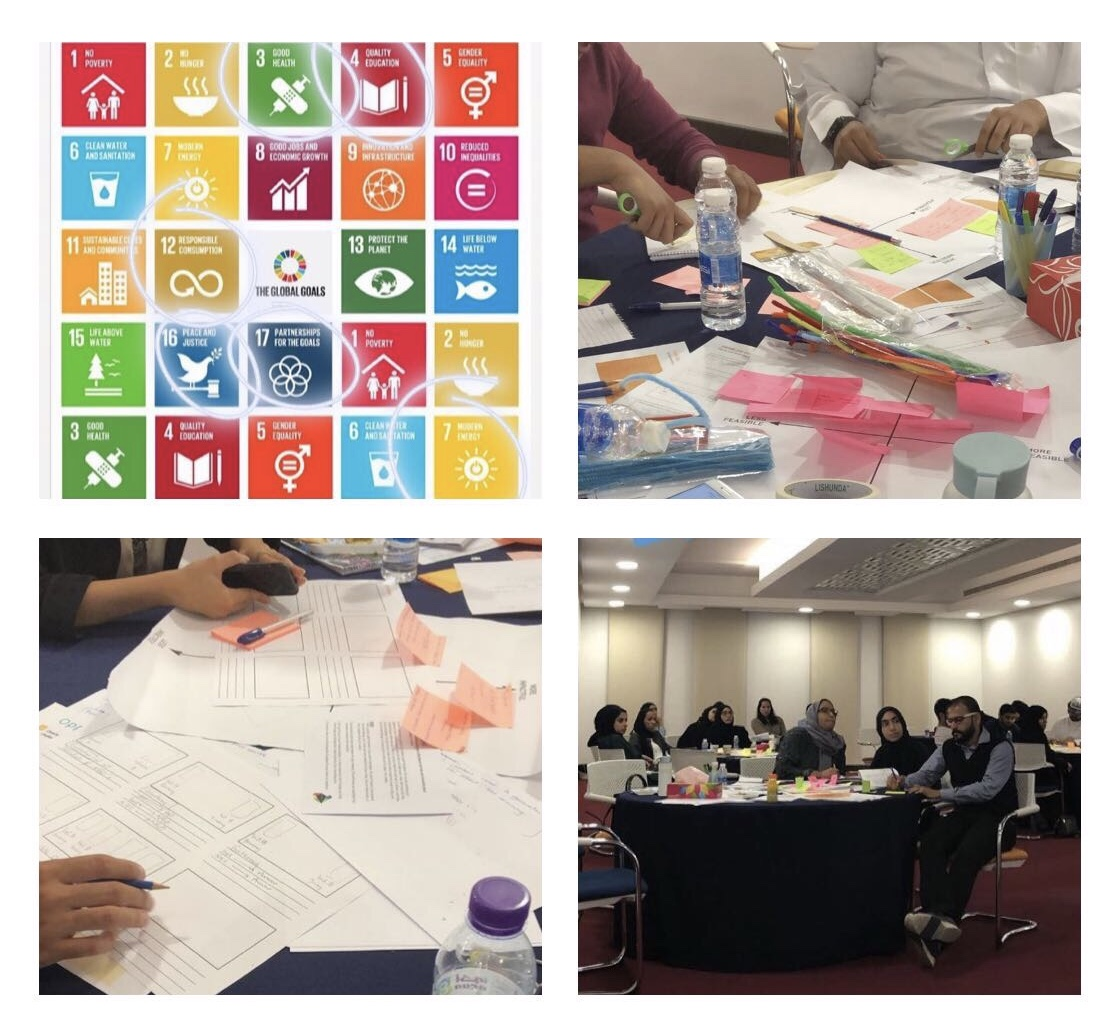 Youth Leadership Programme, UNDP - Workshops on design thinking for sustainable development in Bahrain