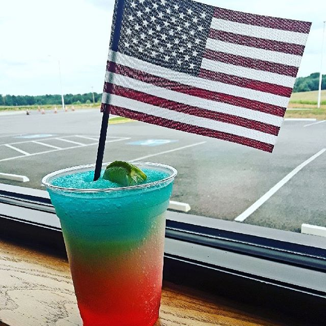 Celebrate Memorial Day with our new patriotic cocktail...The Spider-monkey Firecracker!  Come check it out at WPNT. . . #memorialdayweekend  #patriotic  #newcocktail