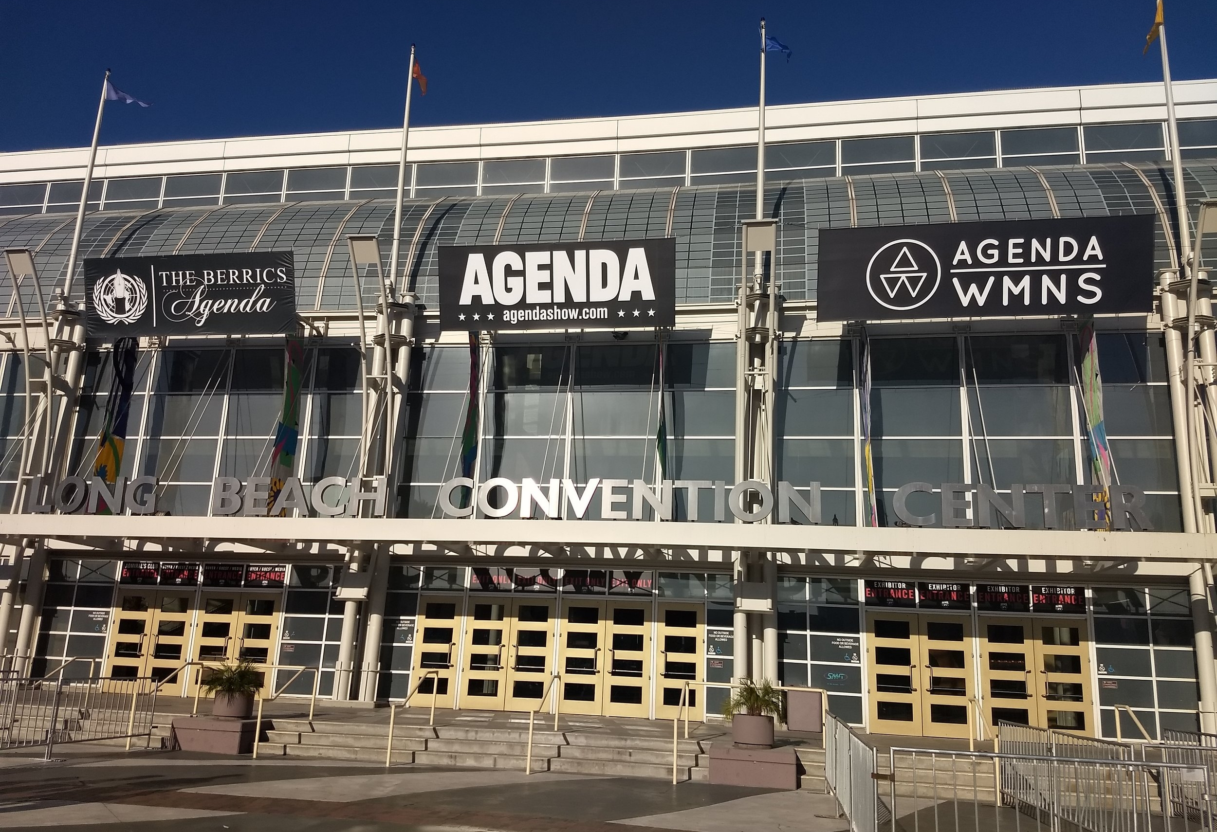 Long Beach Convention Center during golden hour,day before Agenda Show 2018.