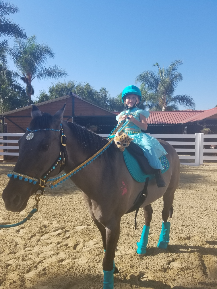 Princess Jasmine and her trusty steed