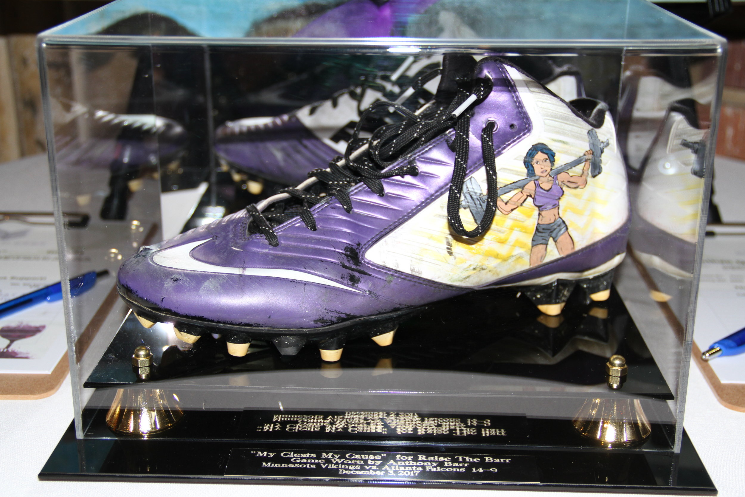 Game Worn Cleats for Auction at Anthony Barr's Fundraiser
