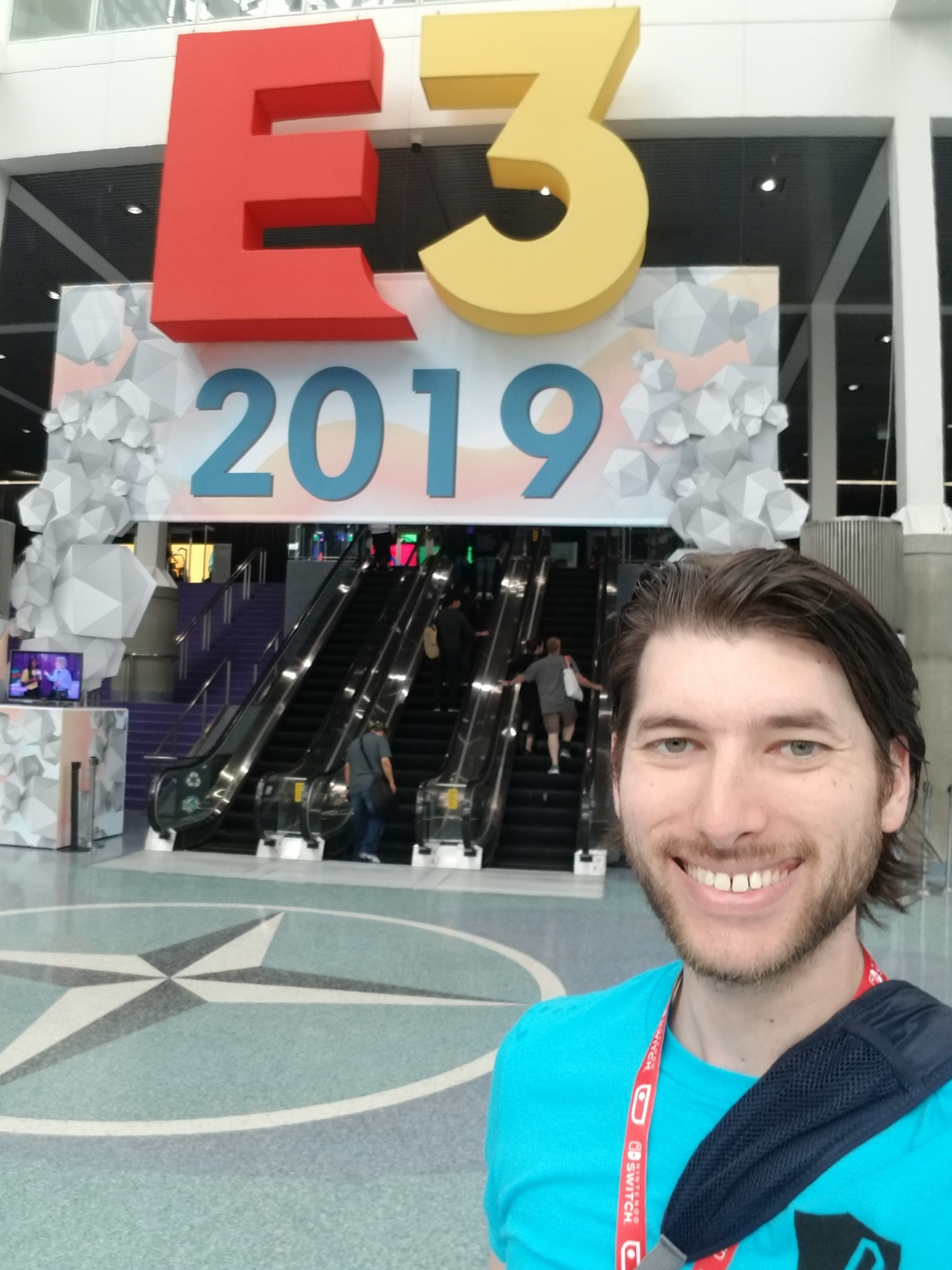 Alan at E3 2019 - I had the wonderful opportunity to work at E3 2019 in Los Angeles this past June in the AFK room operated by Take This.