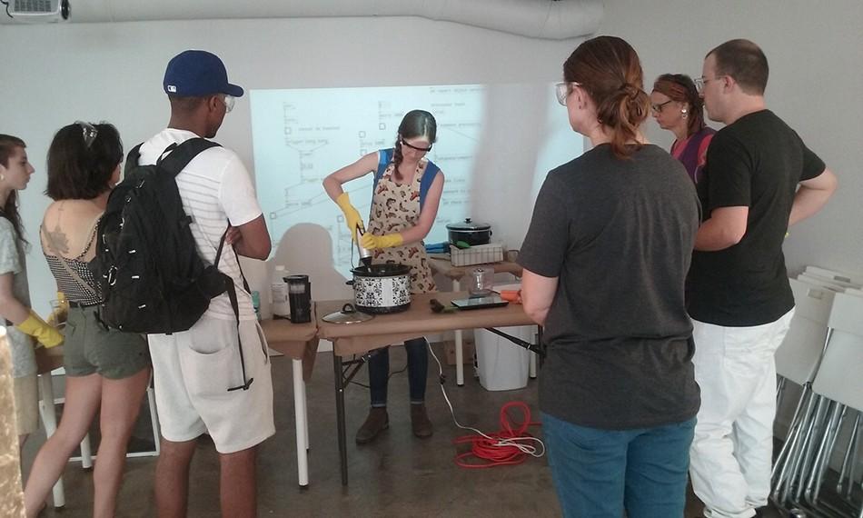 Anacostia River Soap Making Workshop at WPA 5/28/16