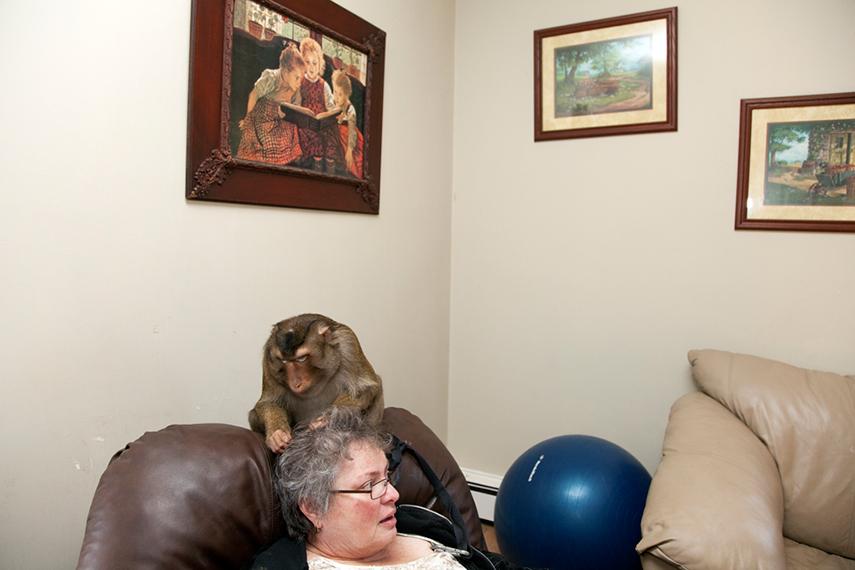 Peggy and Macaque. Onancock, VA