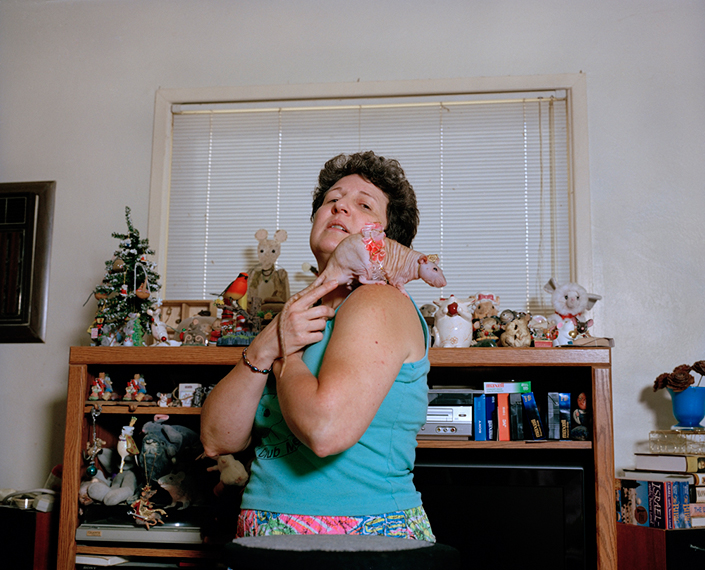 "Debbie ""The Rat Lady"" and Peanut. Chico, CA"