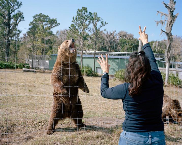 Trainer and Bear. Myakka City, FL