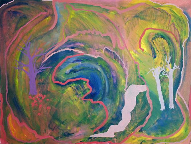 "Considered Eventualities acrylic on canvas 30"" x 40"""