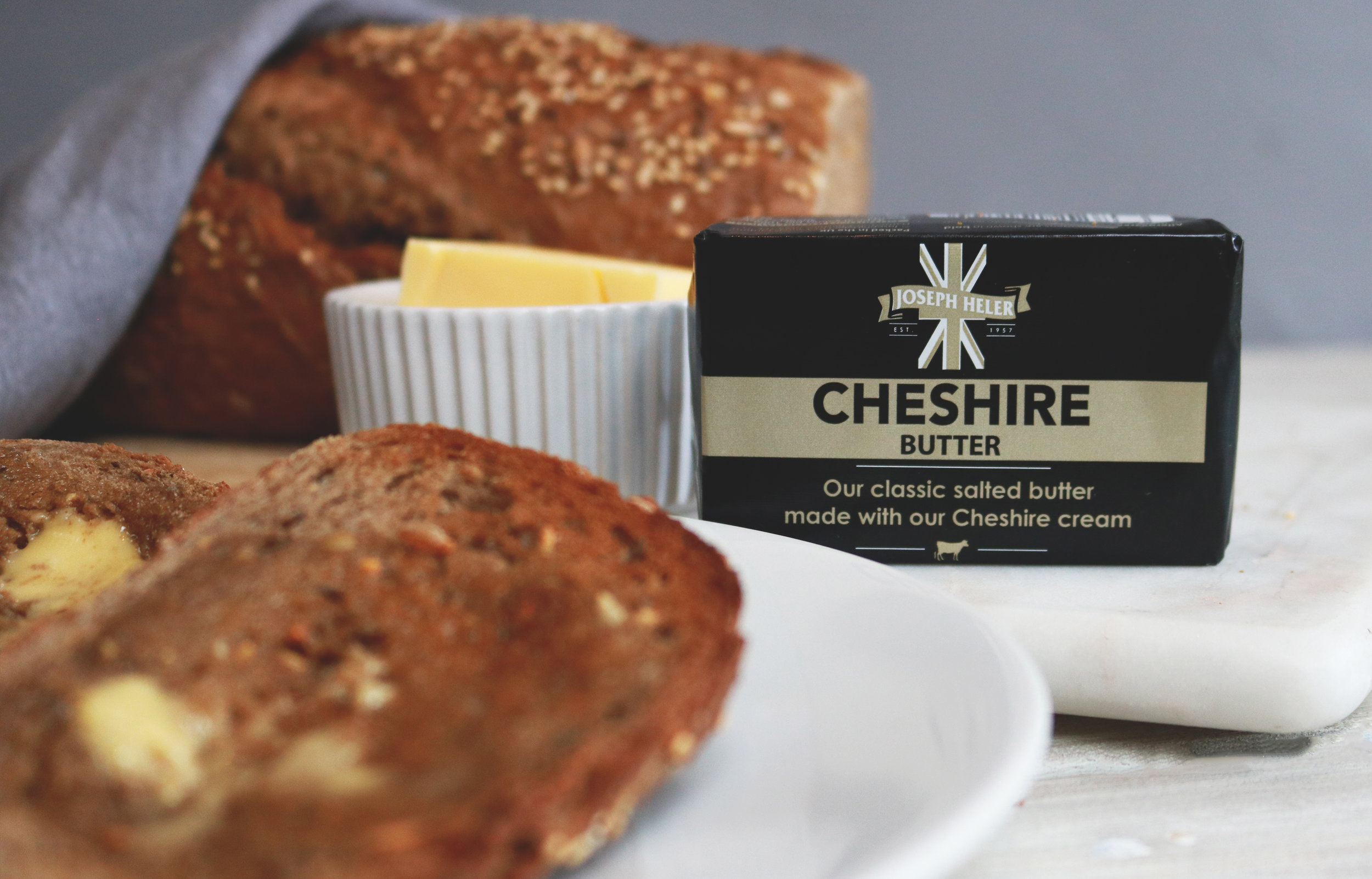 Real local butter - Our salted butter made with our Cheshire cream