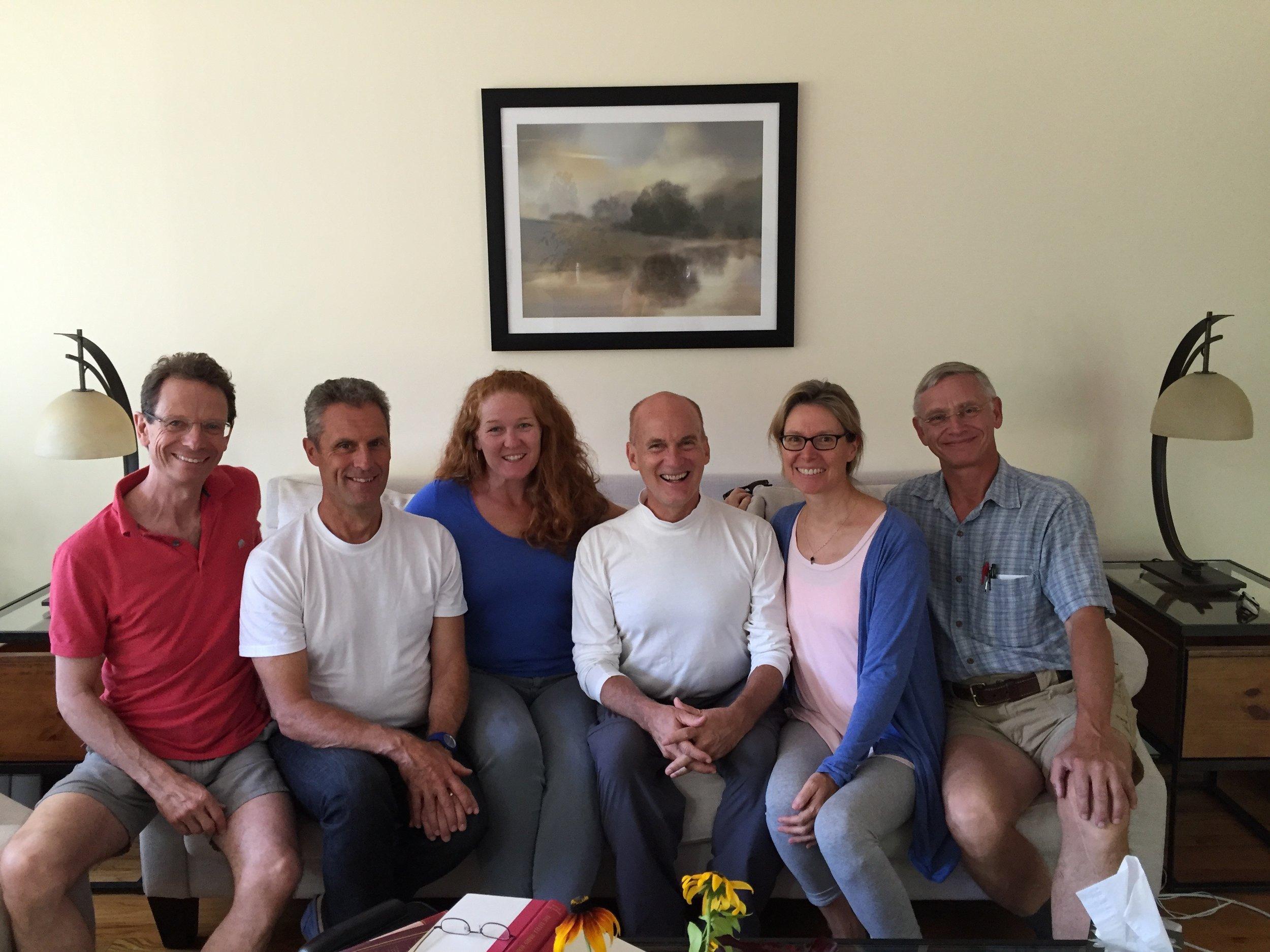 From L-R: Michael Lansky, Michael Neu, Katie Moran, Jaimen McMillan, Dorothea McMillan, and John Takacs.  Mechanicville, NY, July 2016.