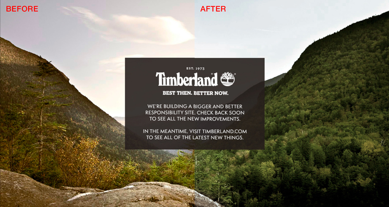 Timberland - Color Correction (Before and After)