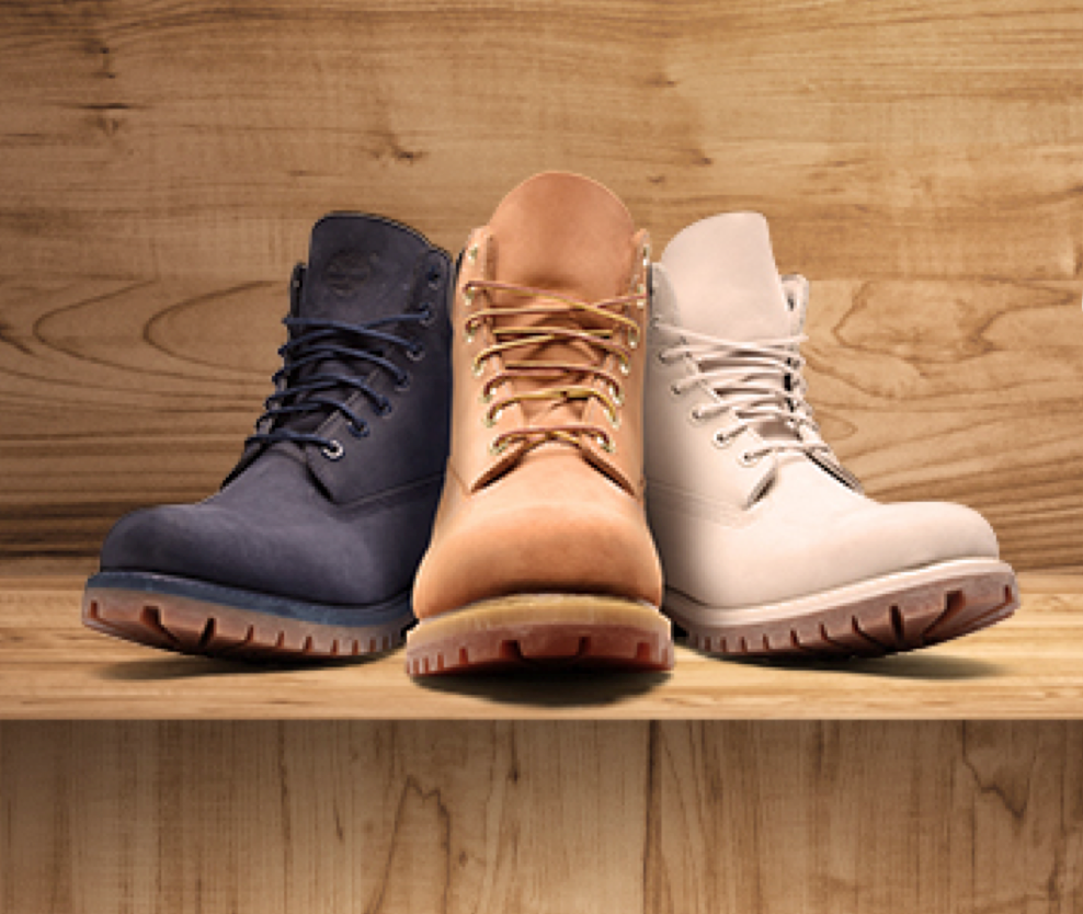 Timberland - Photo Retouching (Silo, Color Correction, Created Background and Added Shadows)