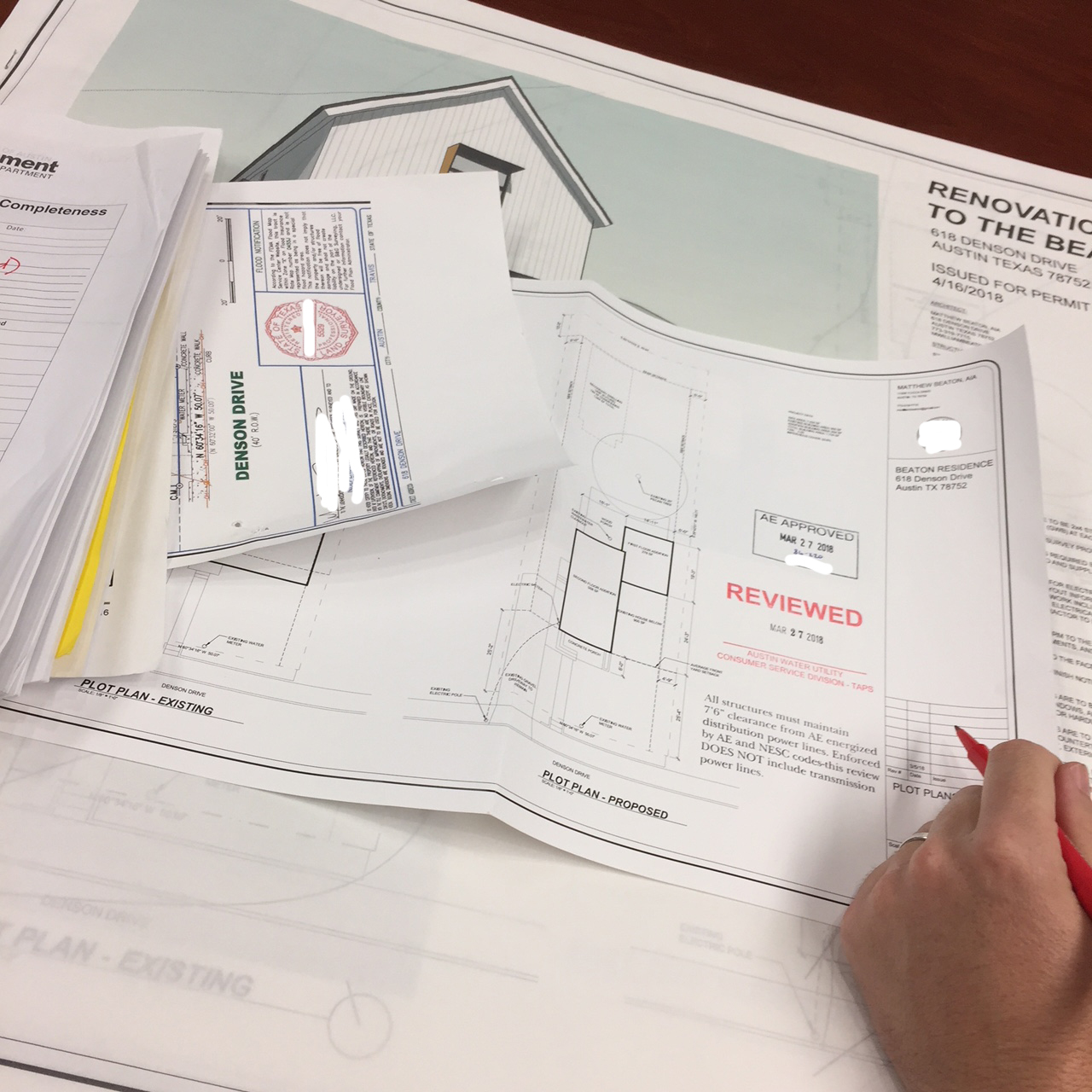 Building Permit Review! - Since we had a full set of stamped drawings and opted for the expedited review, the process was relatively quick and painless.