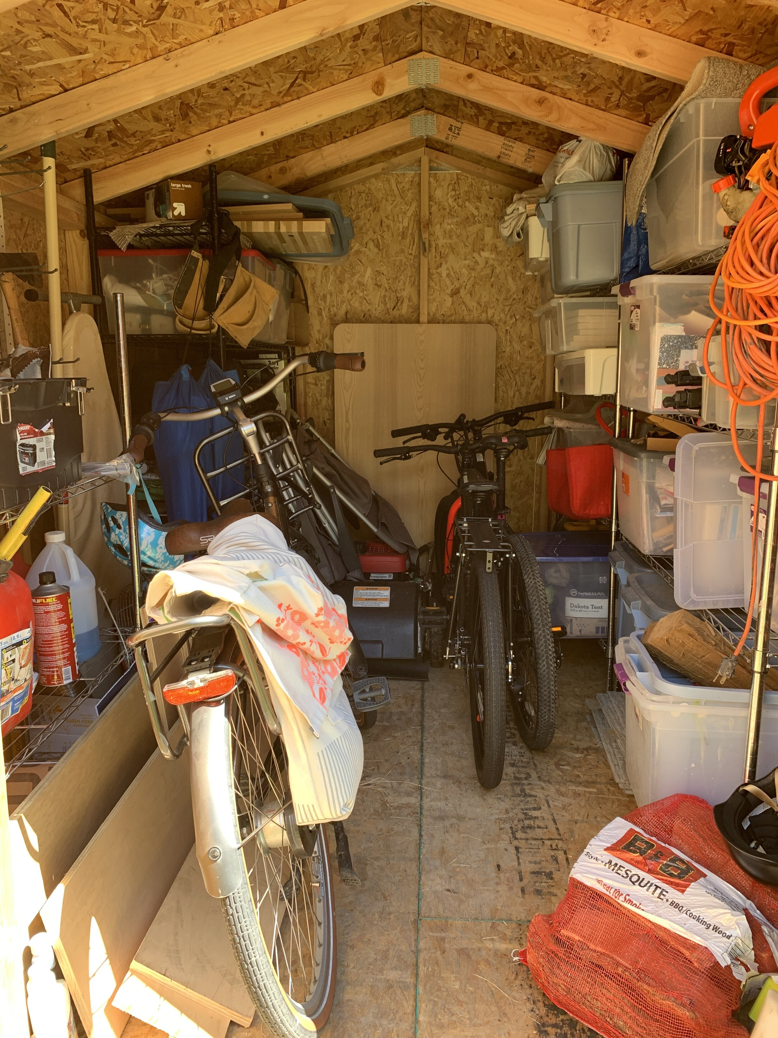 Our new storage space