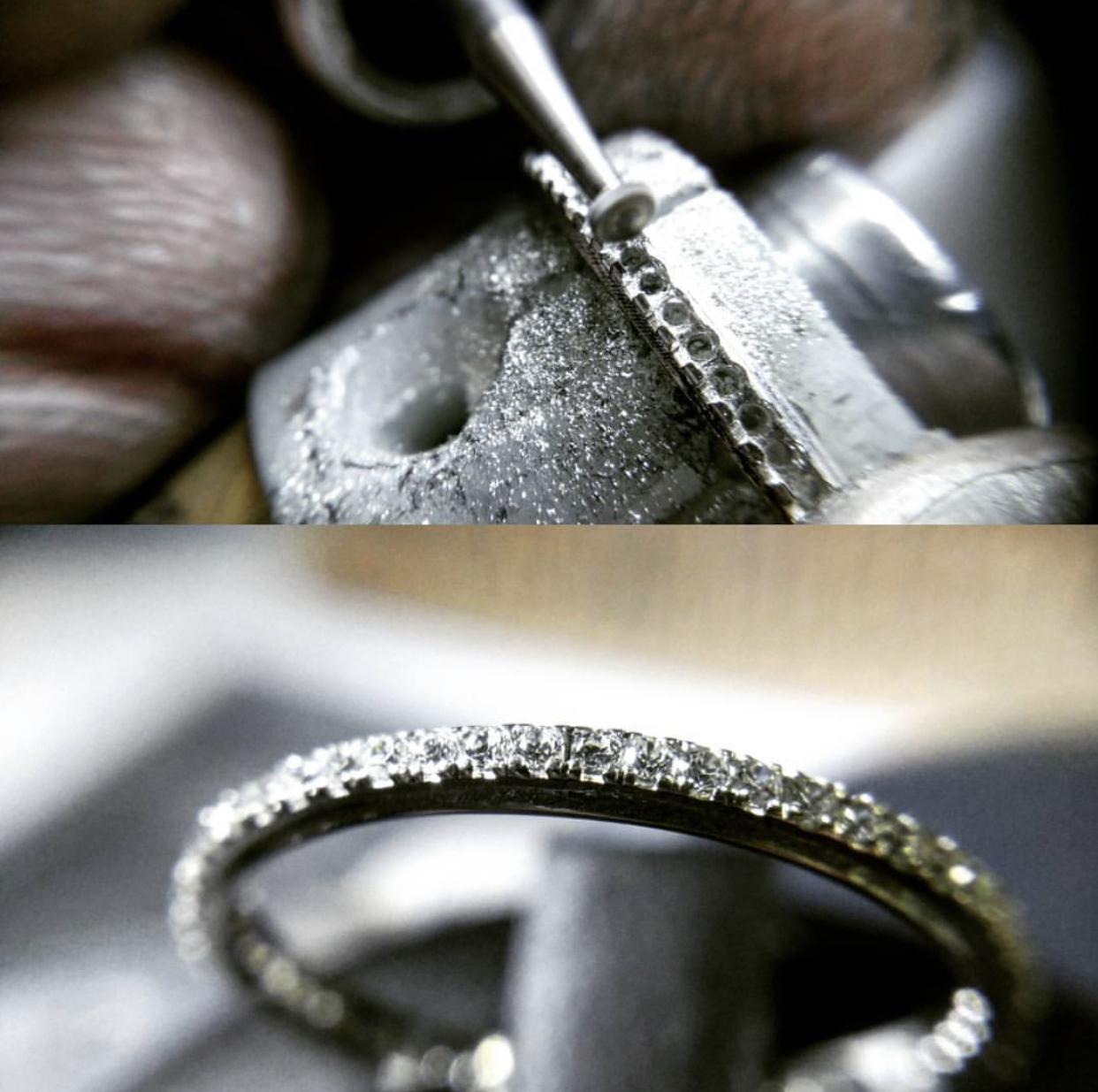 engaste de piedras. engastador de diamantes