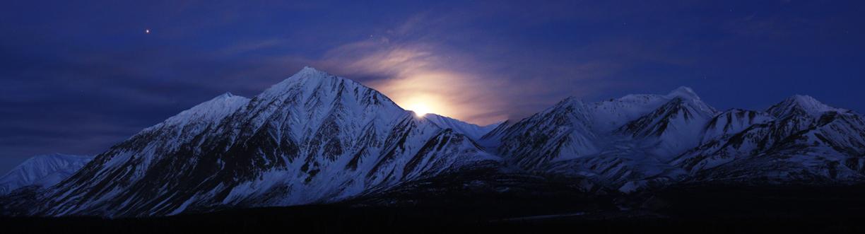 Alsek Valley Moonset - St. Elias Mountains, Yukon, Canada