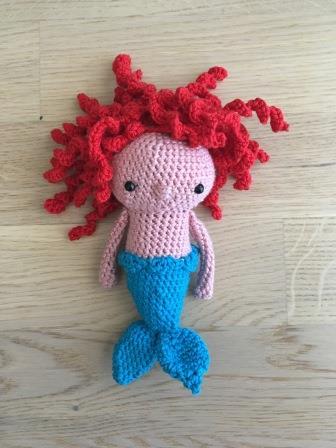 Meerjungfrau, mein Ergebnis des Testhäkelns