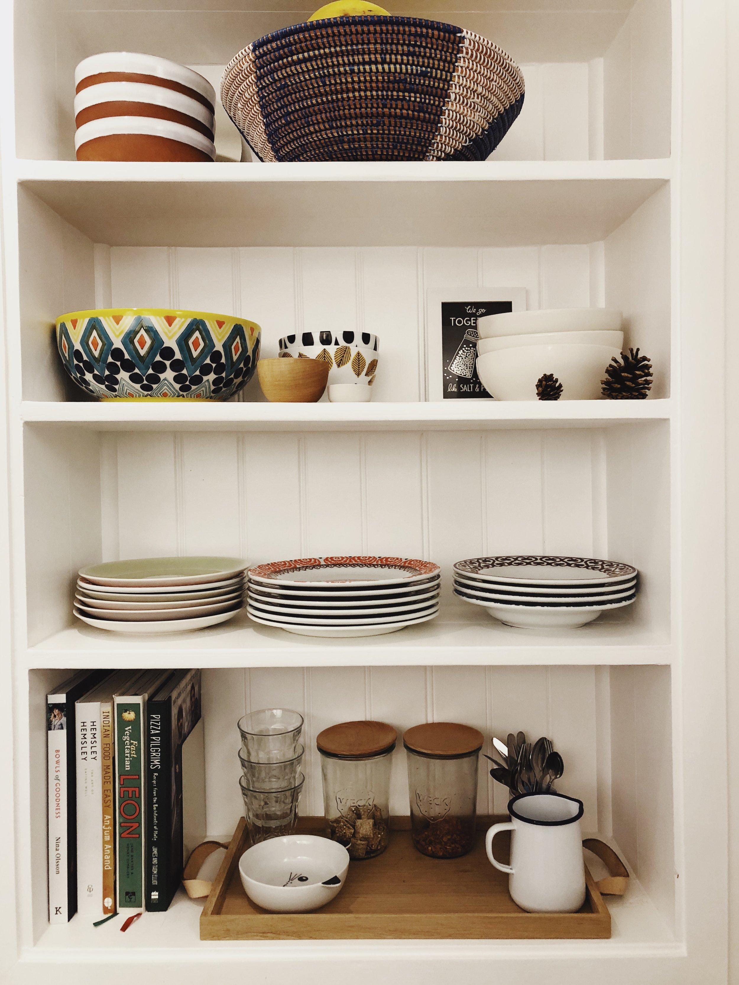 kitchen shelves open shelves shelf styling kitchen shelf ideas kitchen shelf styling open shelves kitchen small kitchen tiny kitchen maximise space ourstorytime.co.uk