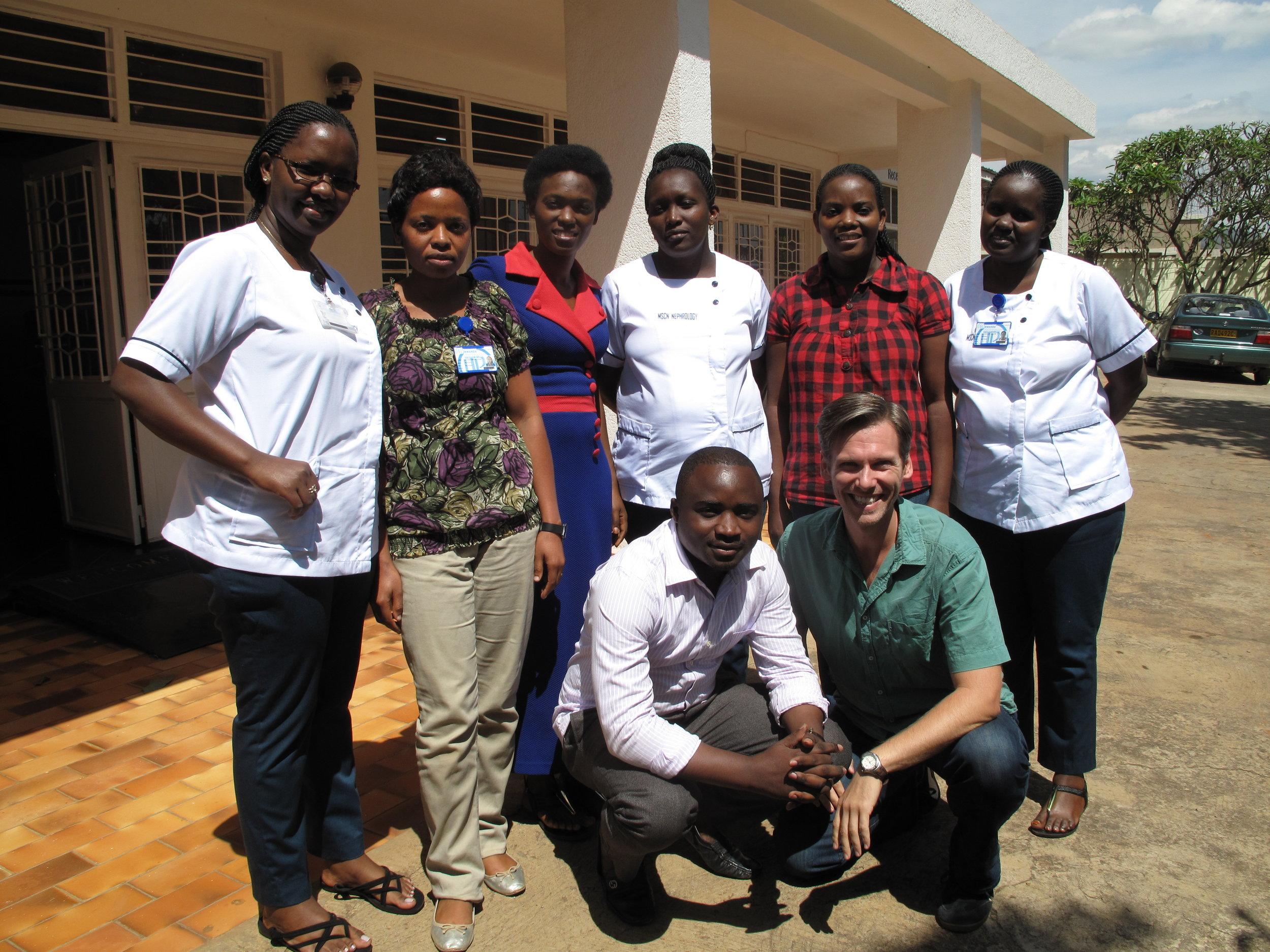 University of Rwanda Nephrology MSN students, Kigali, Rwanda. Spring 2016.