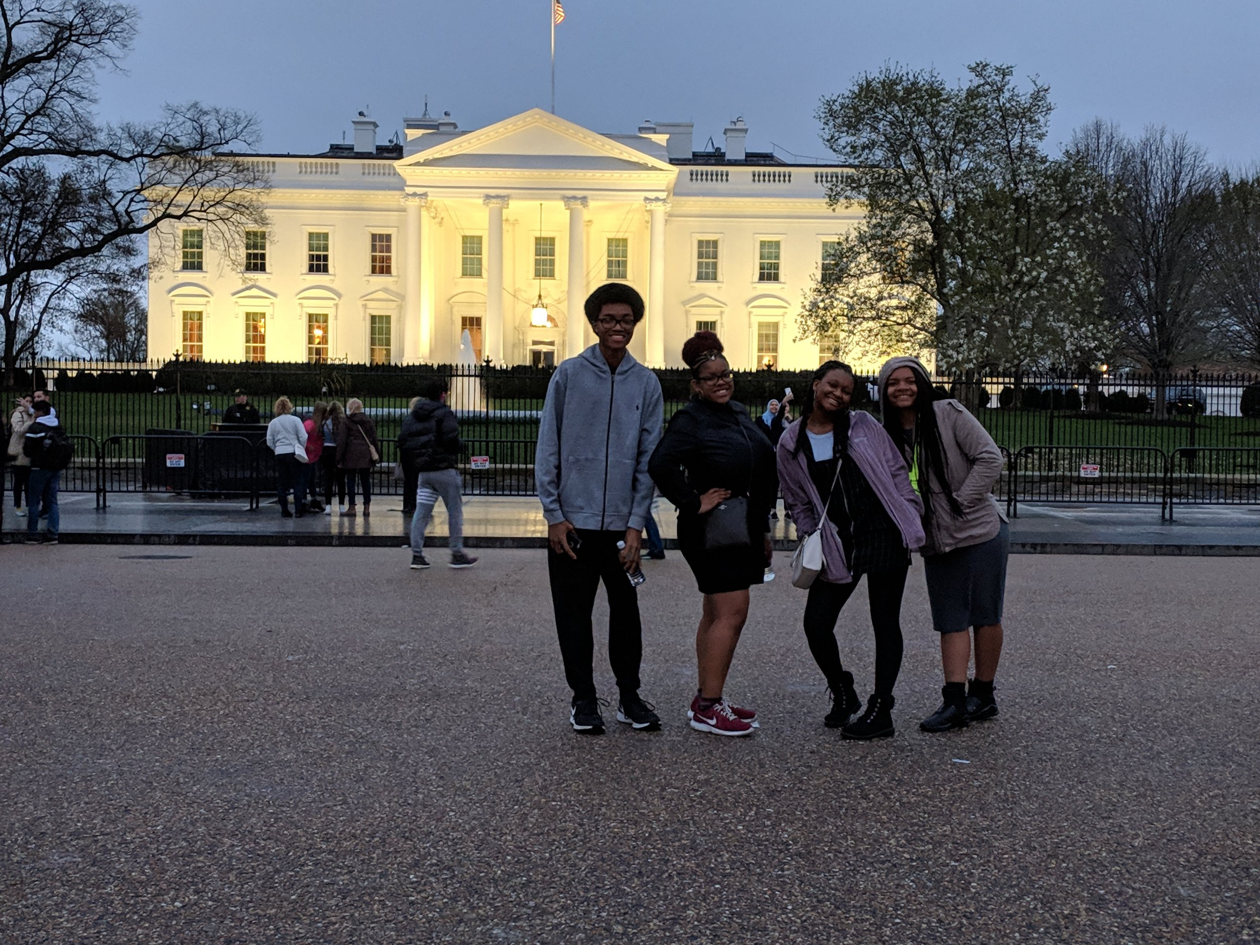 2018-2019 Grand Prize Winners in front of the White House.