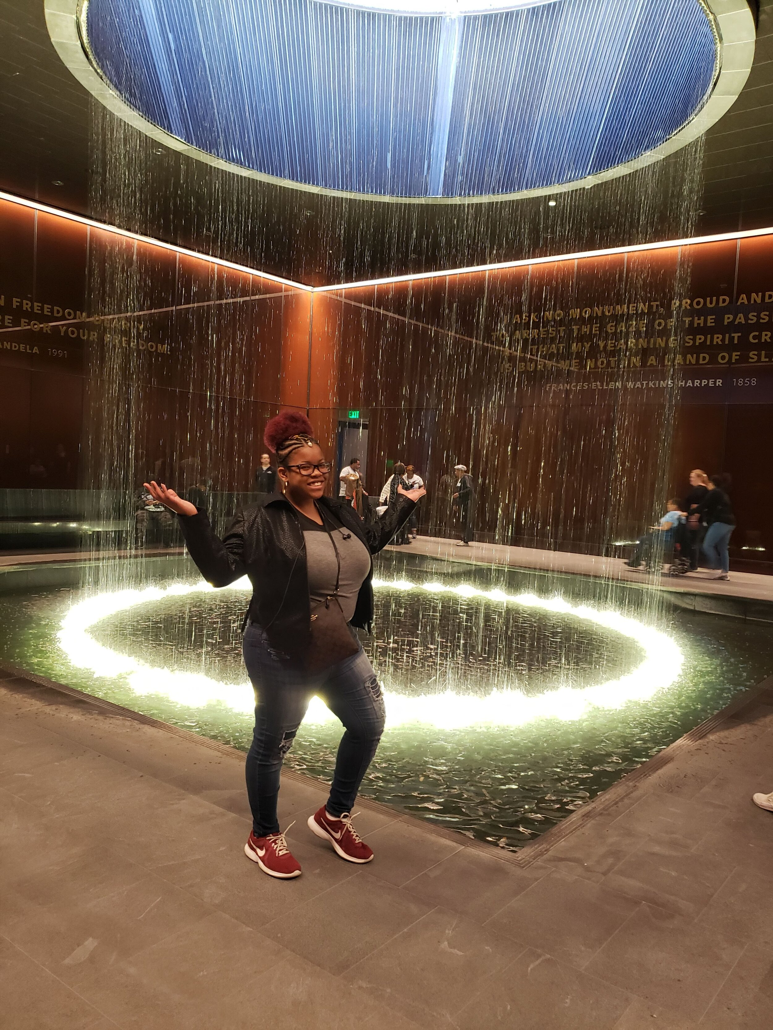 """""""The museum increased my self-worth. Seeing our history, I know I can do a lot more. I am more than a number."""" Aryka Cooper, Grand Prize Winner 2018-2019, at the Smithsonian National Museum of African American History and Culture."""