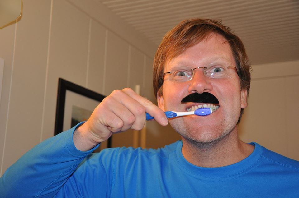Dr. Clark takes care of his teeth too!