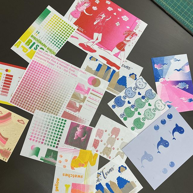 Swatch day in the #seurisographworkshop!