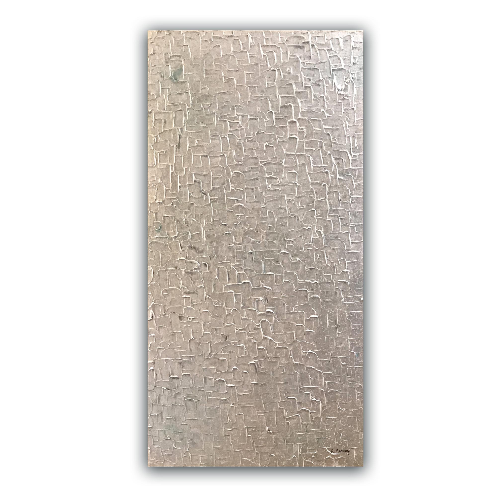 """Illusions Aqua"" 12""x24"" acrylic on canvas.  Available."