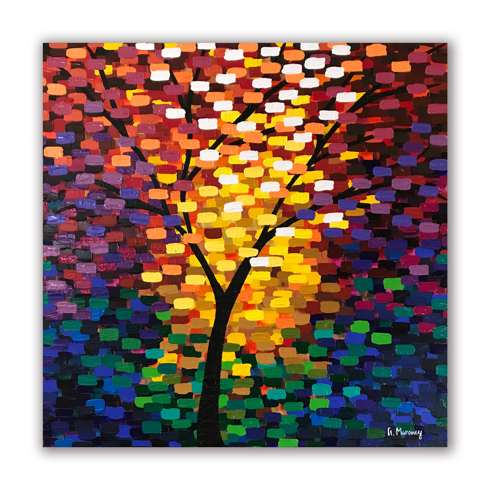 """""""Tree of Life"""" 36""""x36"""" Acrylic on Canvas.  Available."""