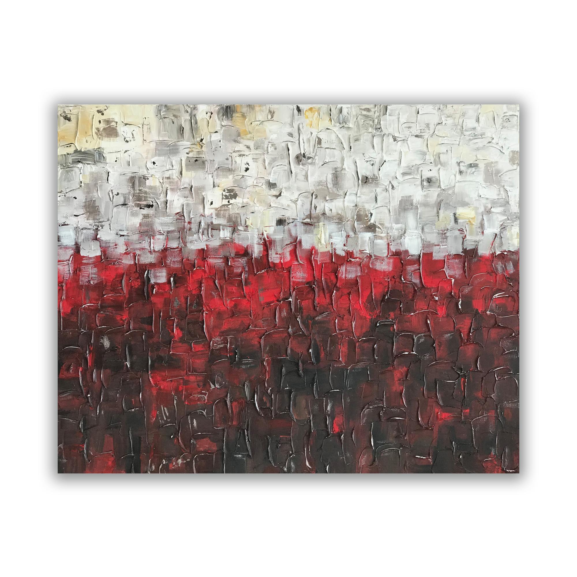 """""""Crimsonscape"""" 24""""x30"""" Acrylic on Canvas.  Available."""