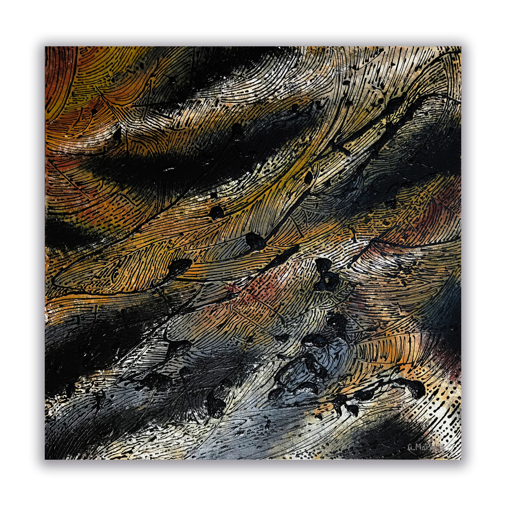 """Sui Generis Tellurian"" 24""x24"" Acrylic on Canvas.  Available."