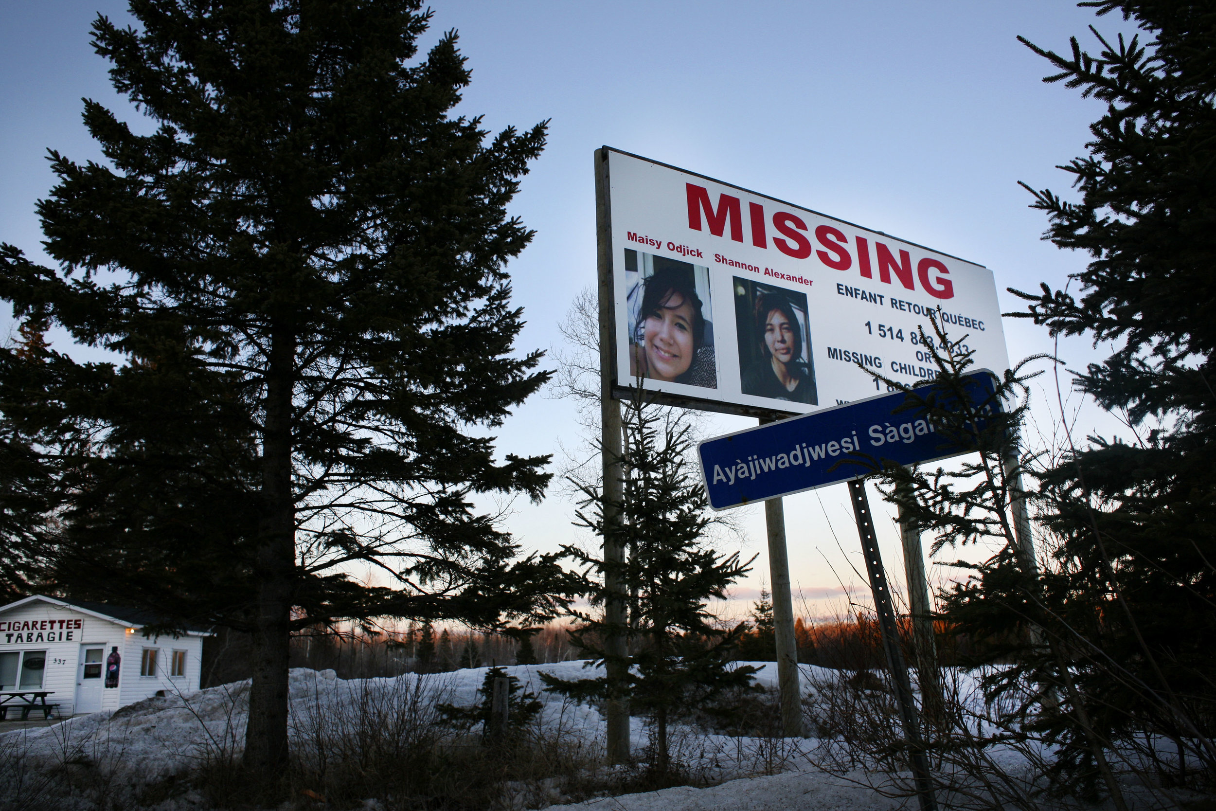 Indigenous teenagers Maisy Odjick and Shannon Alexander disappeared from Maniwaki in September 2008. Since 1980, at least 1,073 indigenous Canadian women have been murdered and more than 100 have gone missing, according to government statistics.(DEVON HAYNIE FOR USN&WR)