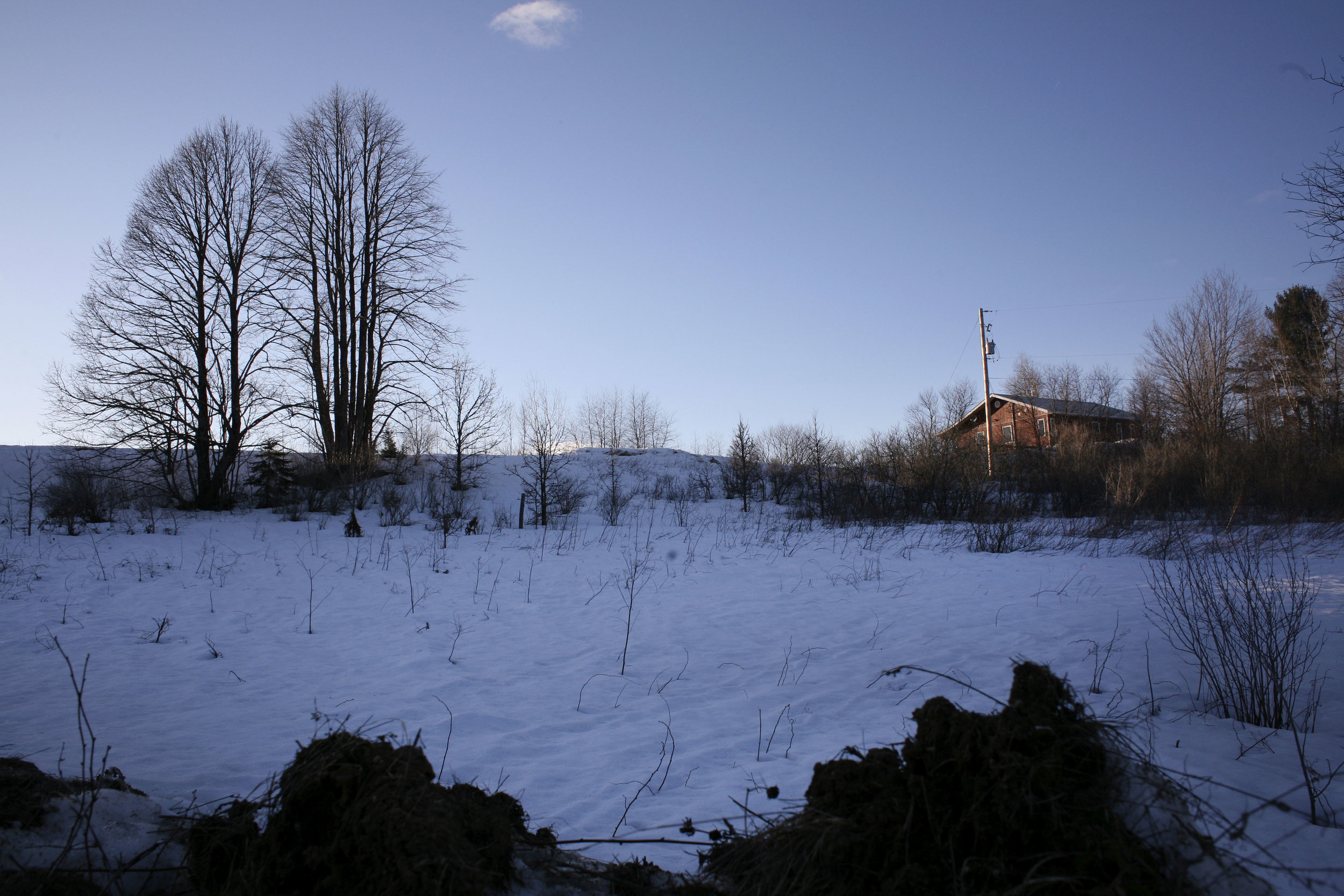 A distant view of Laurie Odjick's home on the Kitigan Zibi reserve. While she was initially frustrated with how the reserve police handled her daughter's case, Laurie says she now has a good relationship with the lead investigator from Québec's provincial police force, which is leading the investigation. Maisy's case is now with the homicide division.(DEVON HAYNIE FOR USN&WR)