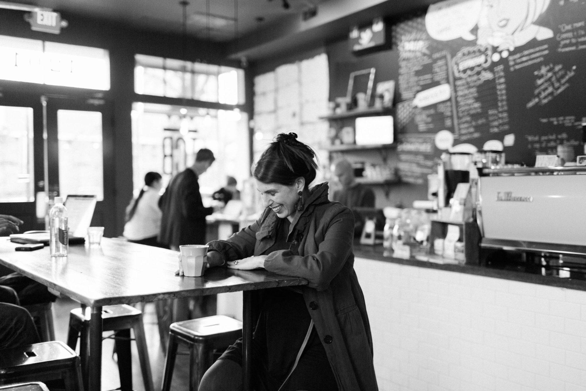 """"""" Coffee With Devon Haynie """"  by Laicie Heeley at Inkstick media."""