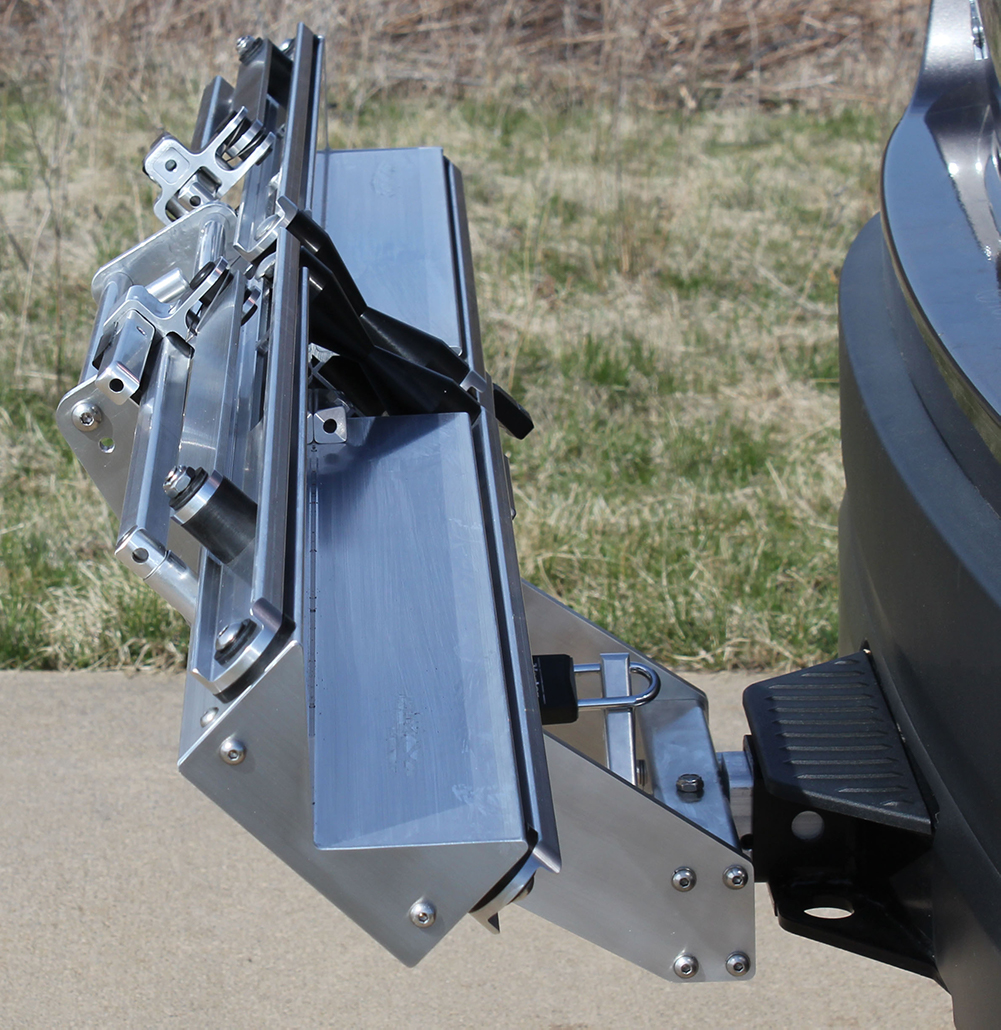Quik Rack Mach 2  - Can be partially angled in case of vehicle spare tire or other clearance issues - Picture #21