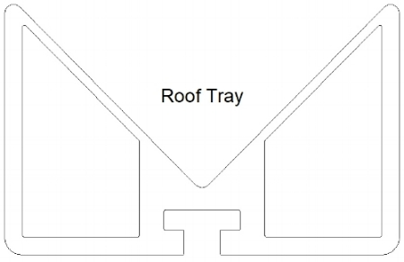 Design for the roof tray only