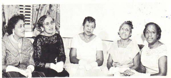 Zeta Phi Beta Founders: Arizona Clever Stemons, Pearl Anna Neal, Myrtle Tyler Faithful, Viola Tyler Goings, and Fannie Pettie Watts.    Photo provided by Zeta Phi Beta Sorority, Inc. National Website.