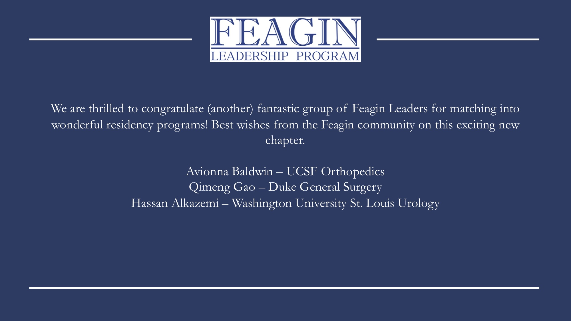 News — Feagin Leadership Program