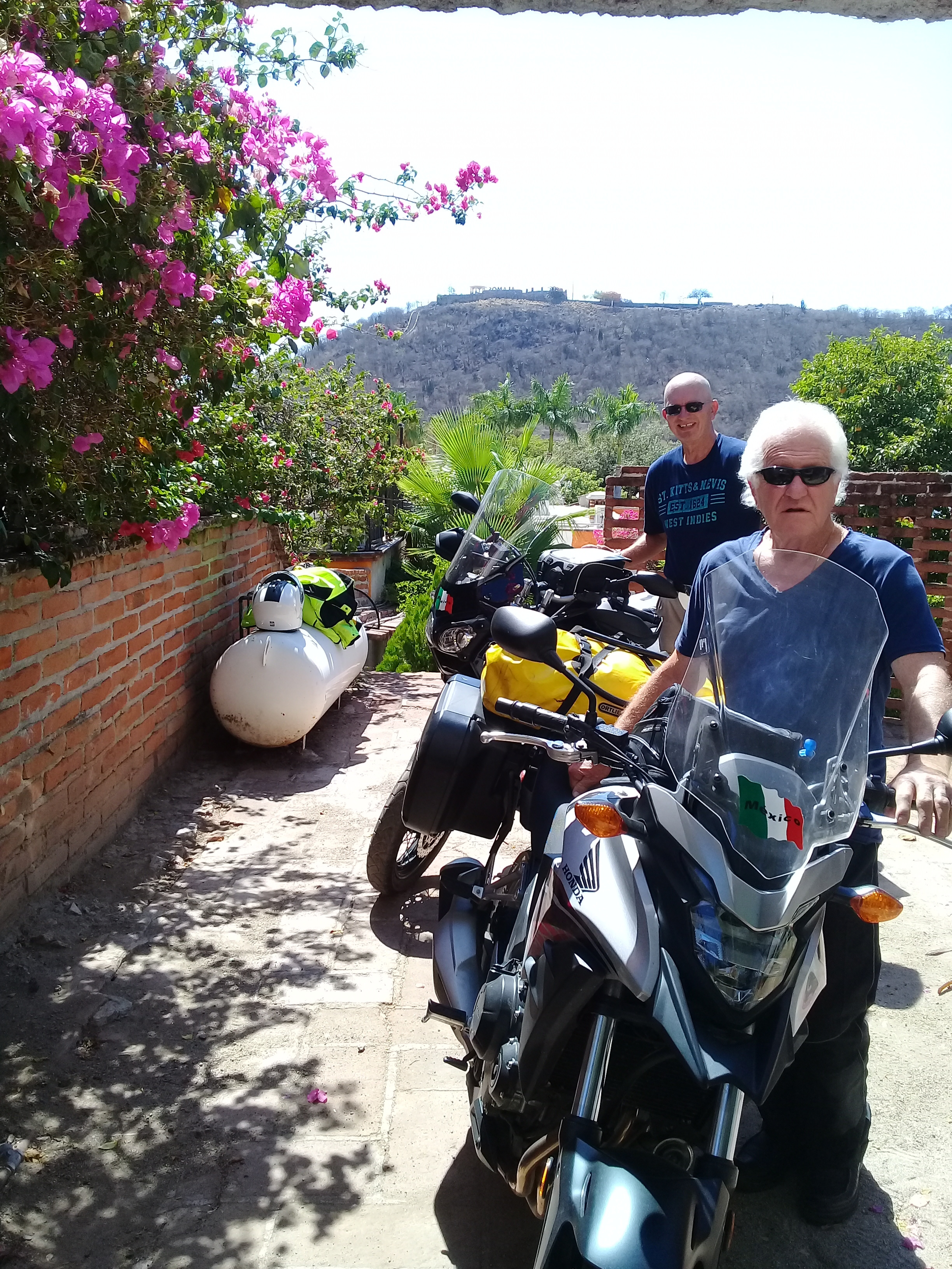 Private parking for two gentlemen bikers after 4,000 miles