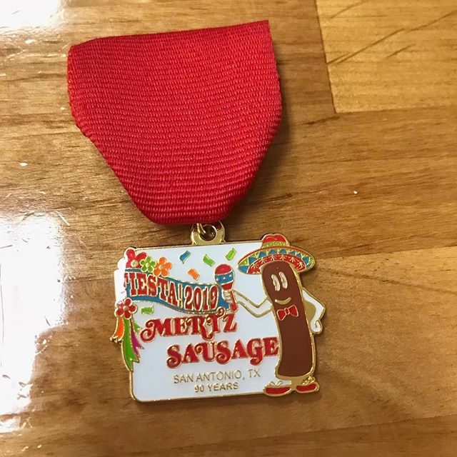 90 years in business & our 1st #fiestamedal is now available!! Medal is $10 and can be purchased at Mertz Sausage, 619 Cupples Road. Get them while they last!  #fiesta2019