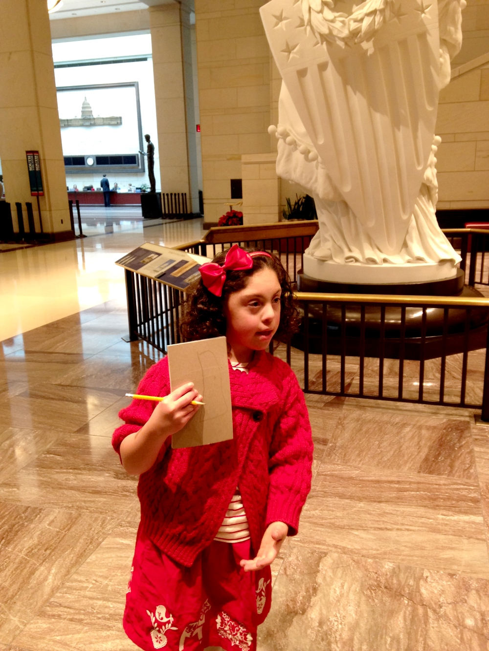 Sophia at US Capitol before the vote