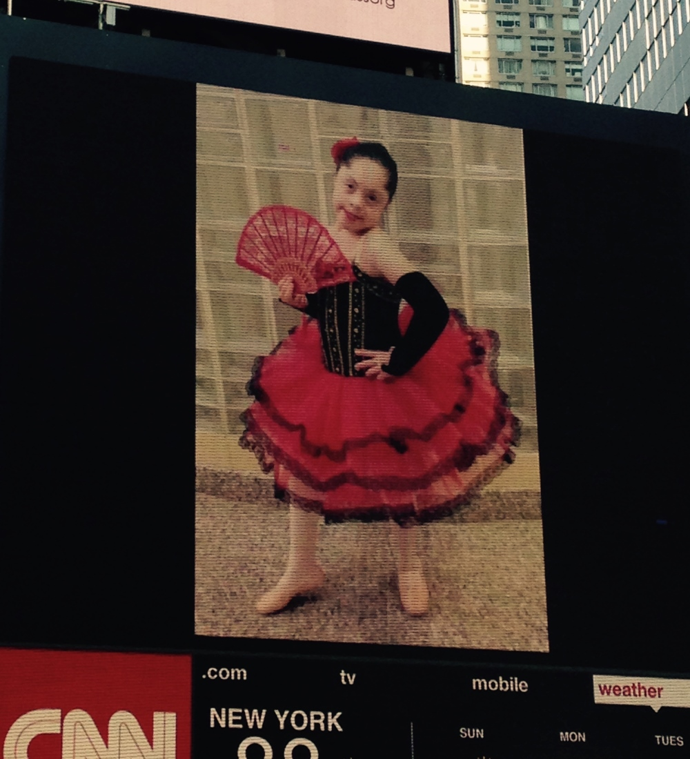 Sophia featured on Times Square NYC