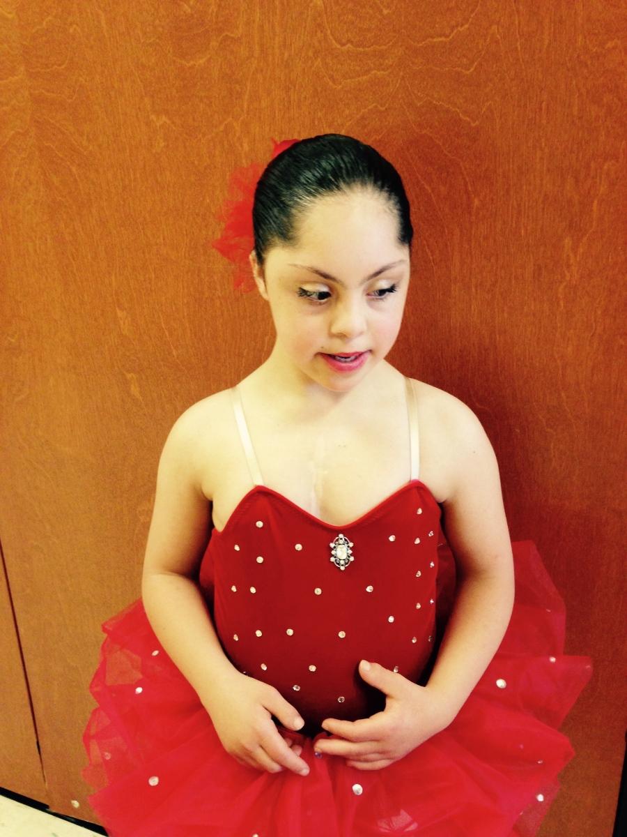Sophia ready for ballet
